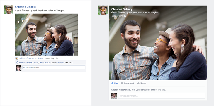 Facebook News Feed: Before - After