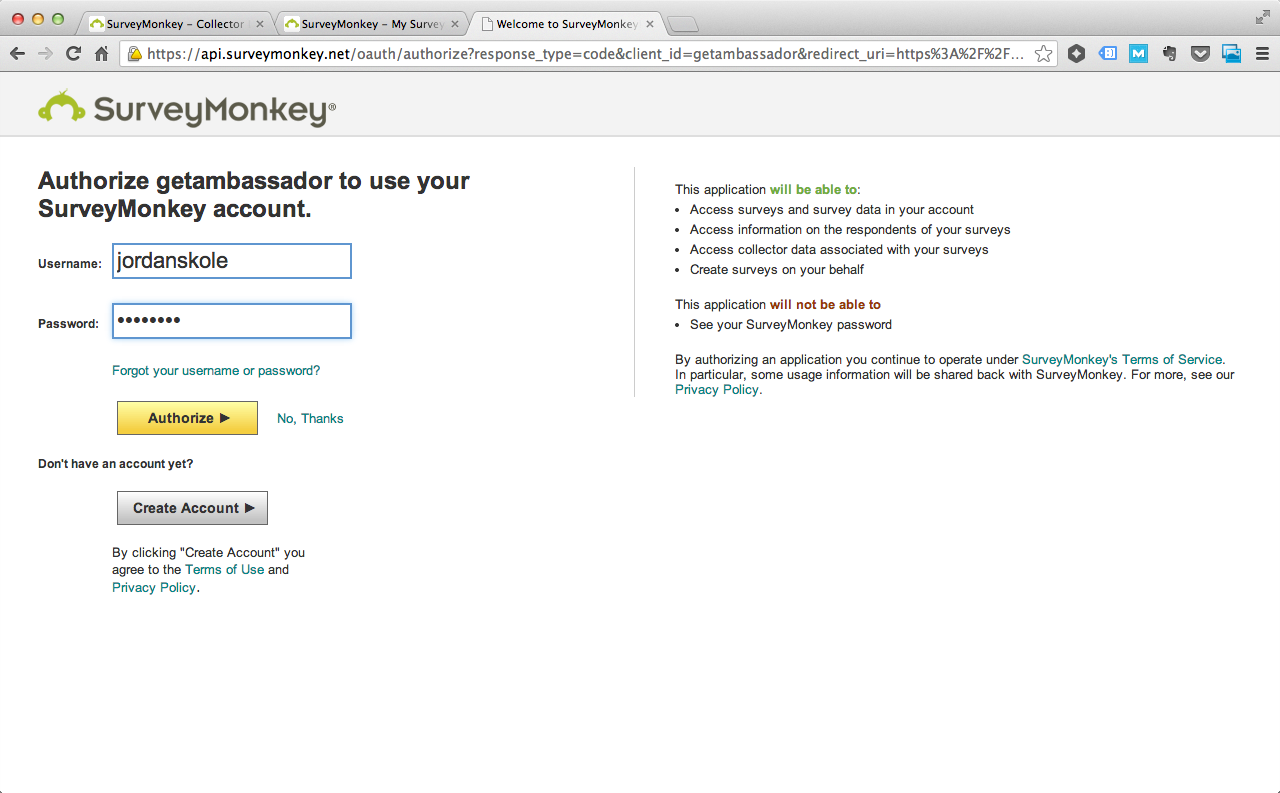 Integrate Ambassador with SurveyMonkey & Net Promoter Score