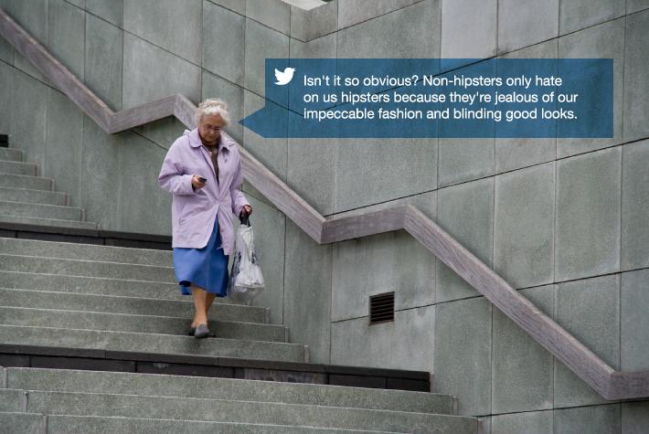 Old Lady Tweeting