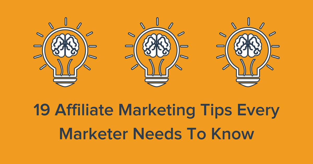 Affiliate Marketing Tips Blog Banner Image