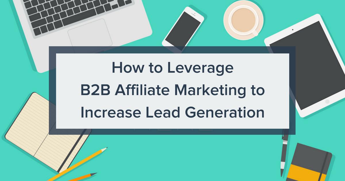 B2B Affiliate Marketing Blog Banner Image