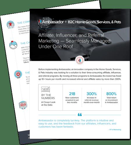 B2C Home Goods, Services & Pets Case Study