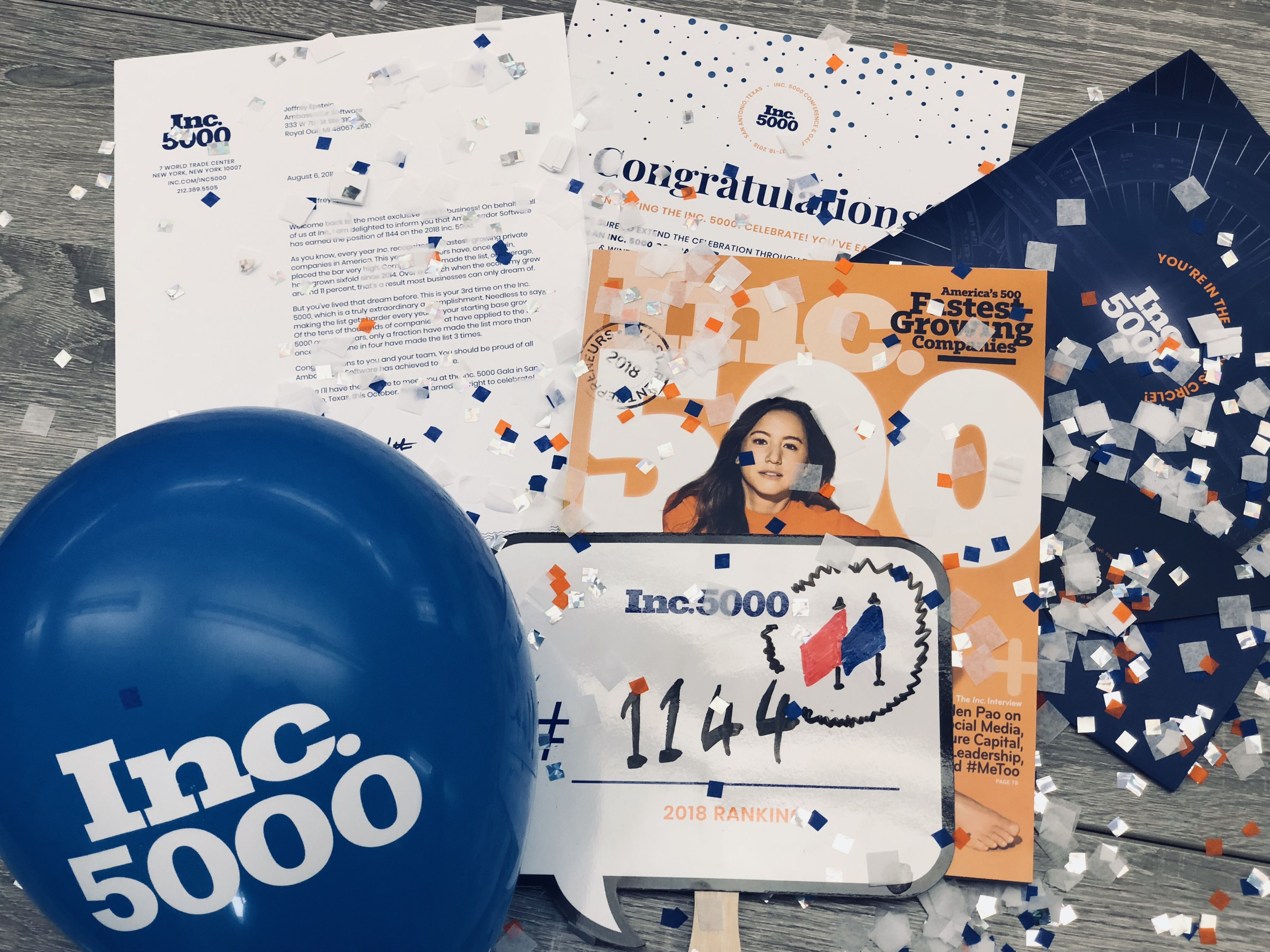 Ambassador Software Ranked on the Inc. 5000 for the 3rd Consecutive Year!
