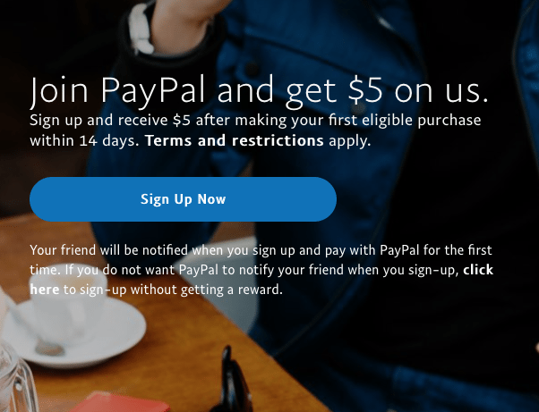 referral program examples paypal