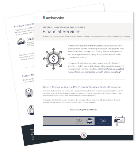 Financial Services Referral Marketing Report