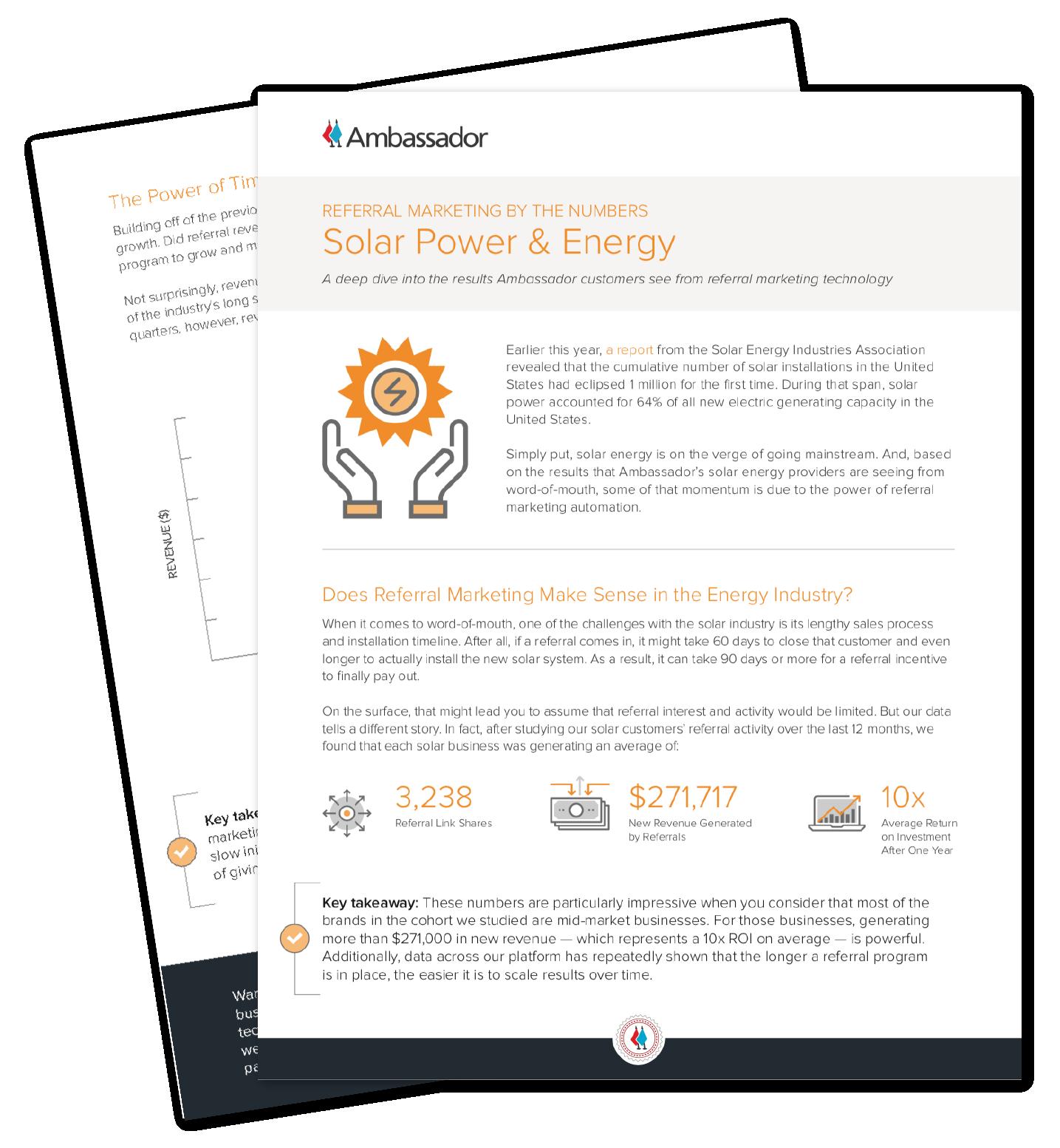 Solar Power Referral Marketing Report
