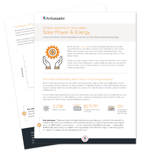 Solar Power Referral Marketing Report