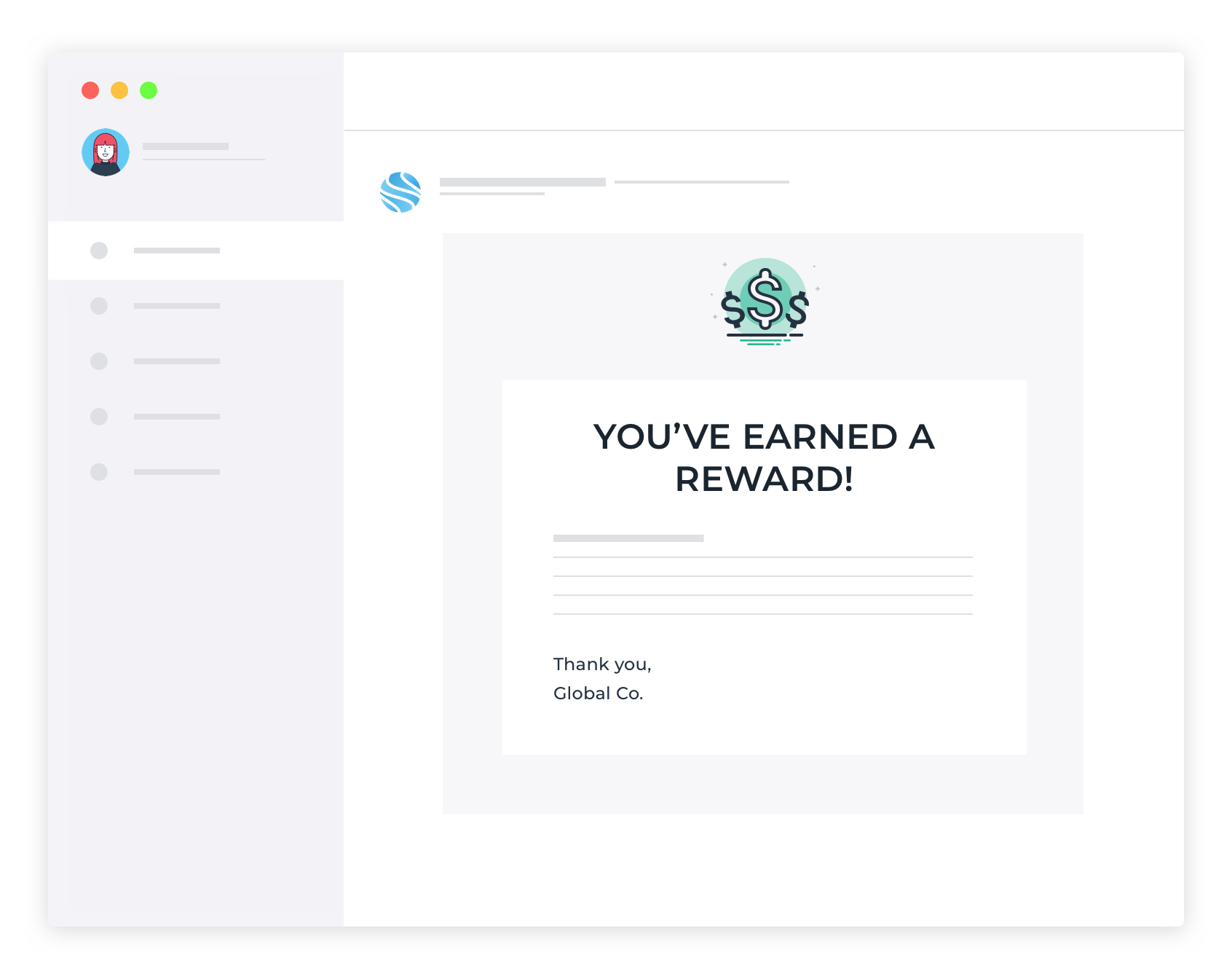 Reward Email V2