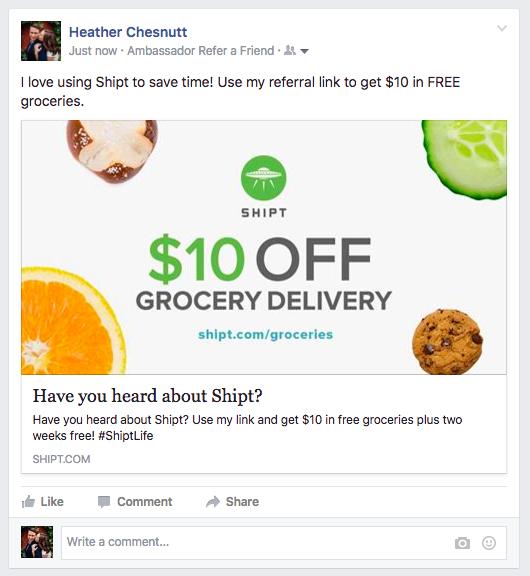 Shipt - Facebook Share