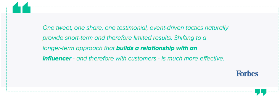 Blog Influencer Marketing Platform Quote