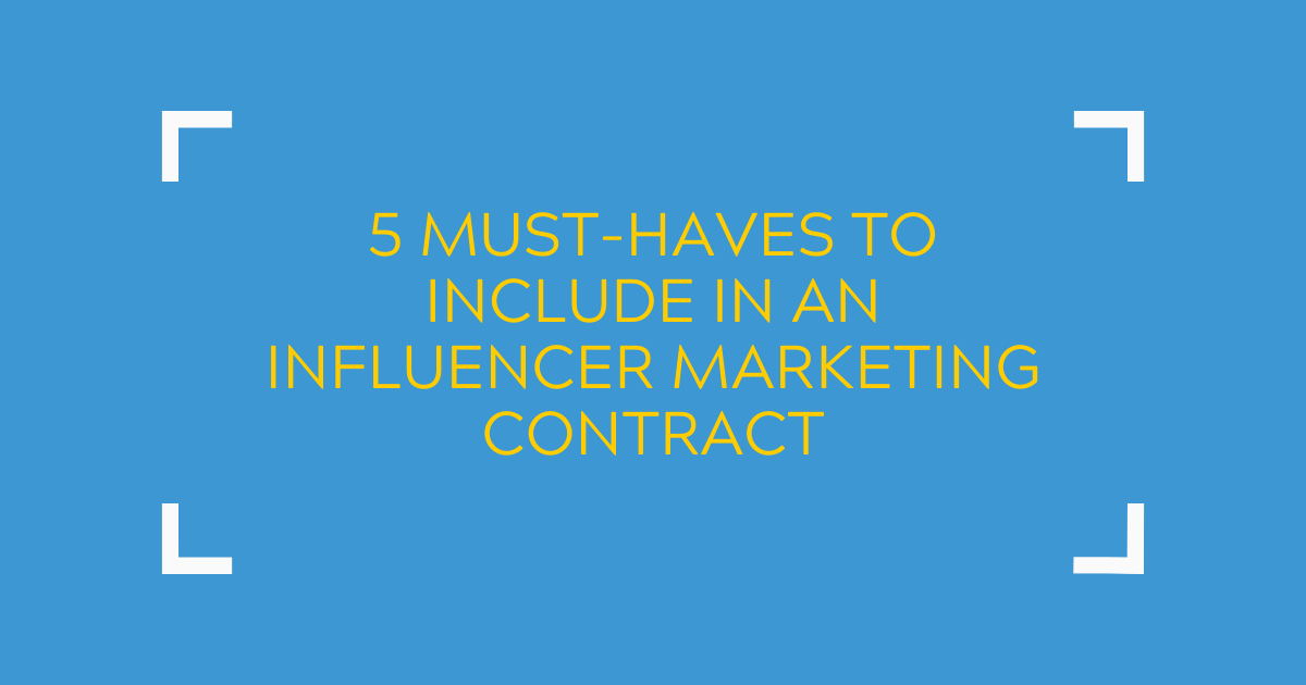 influencer marketing contract banner
