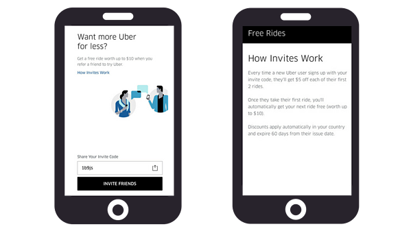 referral marketing examples uber
