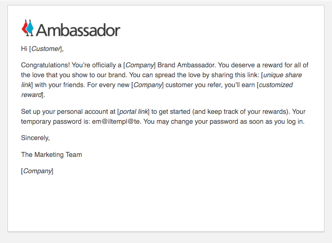 Referral Marketing Email Template: eCommerce Company