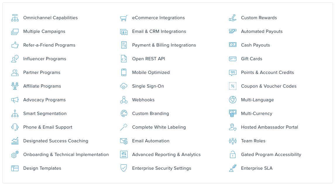 Ambassador software features