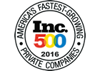 2016 Inc 500 Fastest growing private company