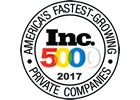 2017 Inc 5000 Fastest growing private company